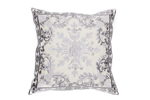 MOROCCAN EMBROIDERED PILLOW CASE -LAILA GREY-
