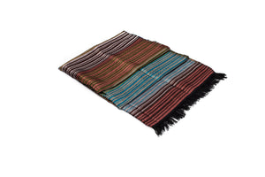LIGHT HANDWOVEN MOROCCAN SABRA SILK SCARF MULTICOLOR