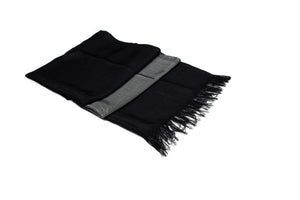 LIGHT HANDWOVEN MOROCCAN SABRA SILK SCARF BLACK