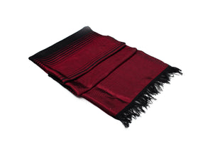 LIGHT HANDWOVEN MOROCCAN SABRA SILK SCARF BURGUNDY