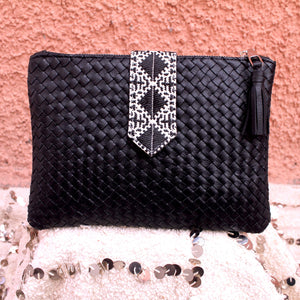 Lilia Clutch in Matte Noir