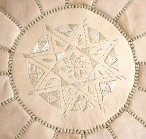 Beni Mellal Pouf in Cream