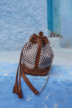 Camelia Crossbody Brown and Cream Bag