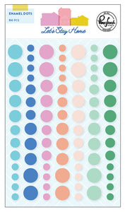 Let's Stay Home Enamel Dots