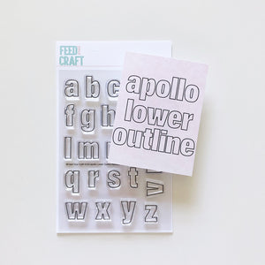 Apollo Lower Outline Alphabet Stamp
