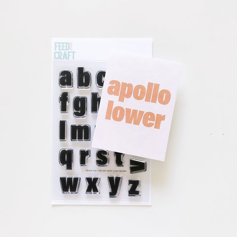 Apollo Lower Alphabet Stamp