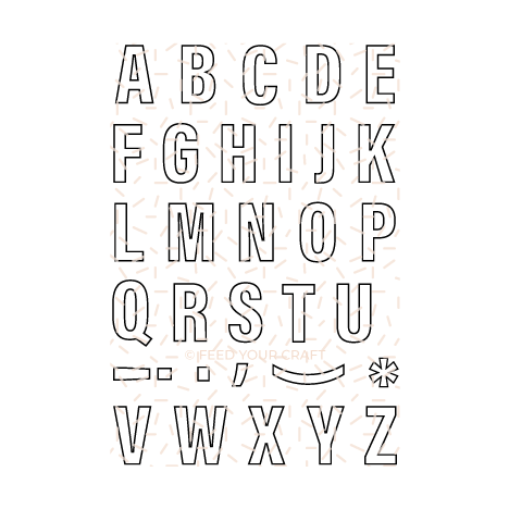 Apollo Outline Alphabet Stamp