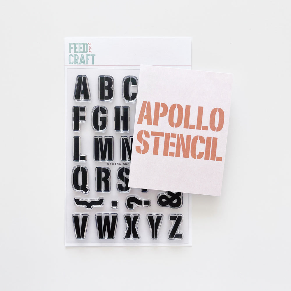 Apollo Stencil Alphabet Stamp