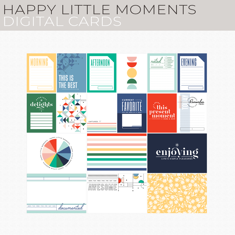 Happy Little Moments Digital Cards
