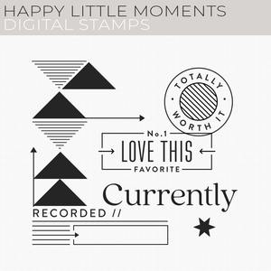 Happy Little Moments Digital Stamps