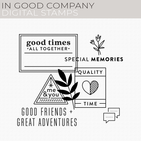 In Good Company Digital Stamps
