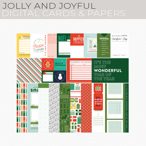Jolly and Joyful Digital Cards and Papers