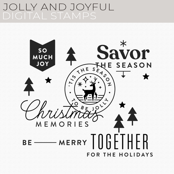 Jolly and Joyful Digital Stamps