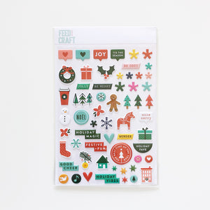 Jolly and Joyful Puffy Stickers
