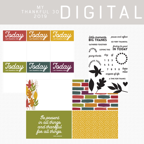 My Thankful 30 2019 Digital Kit