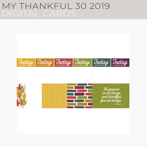 My Thankful 30 2019 Digital Cards