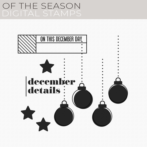 Of the Season Digital Stamps