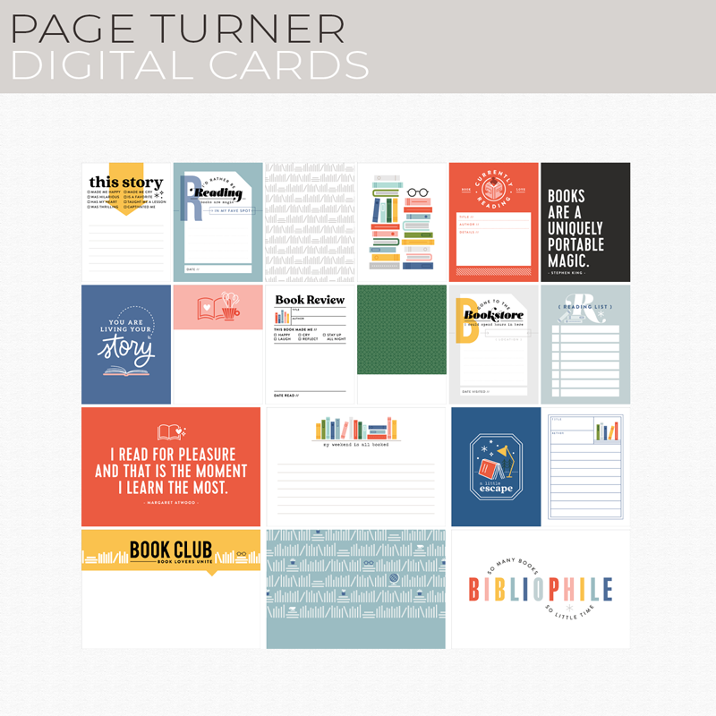 Page Turner Digital Cards