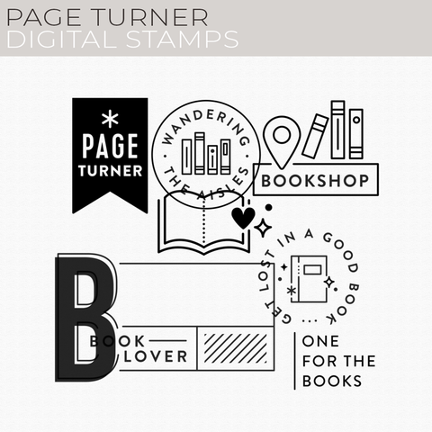 Page Turner Digital Stamps