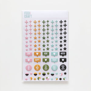 Simple Shapes Puffy Stickers
