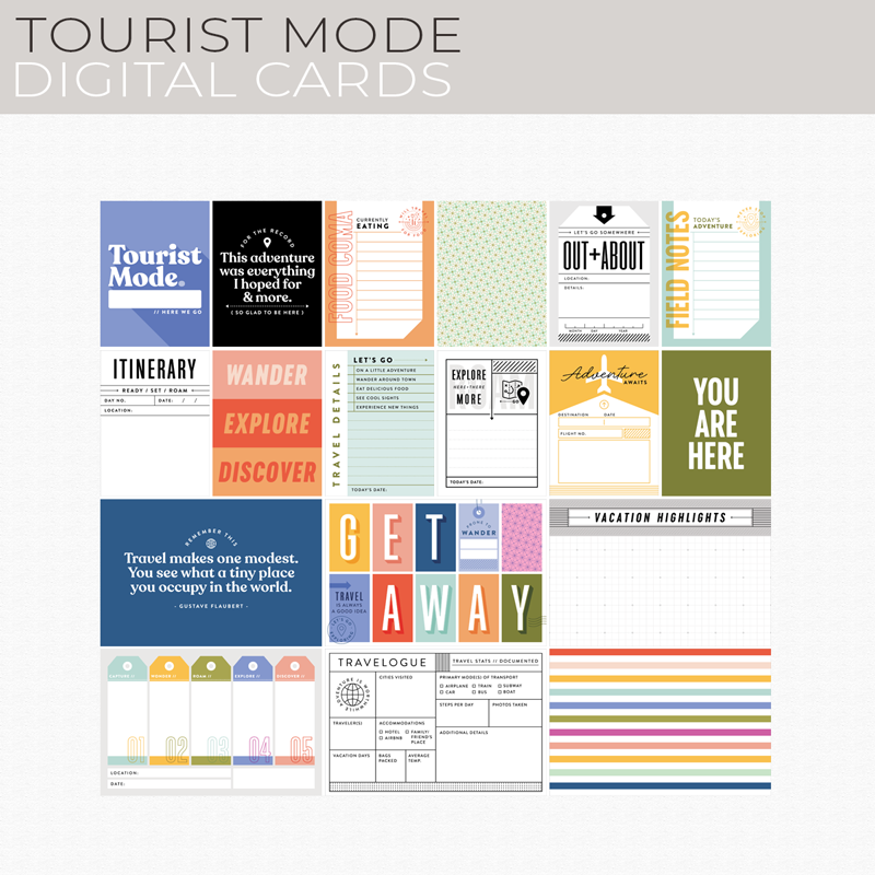 Tourist Mode Digital Cards