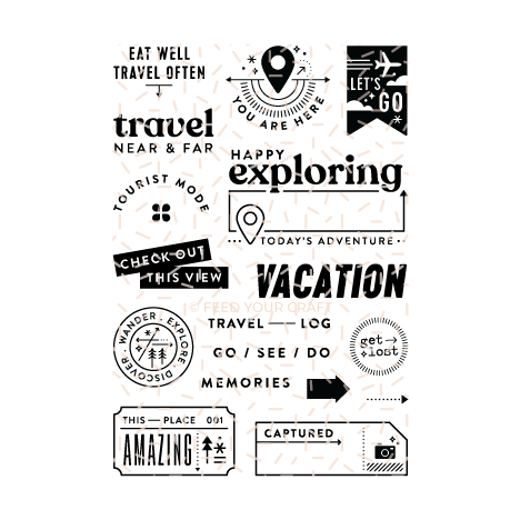 Tourist Mode Digital Stamps