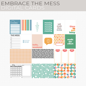 Embrace the Mess Digital Cards