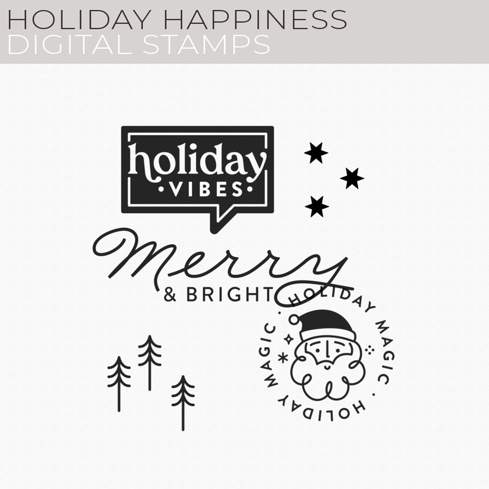 Holiday Happiness Digital Stamps
