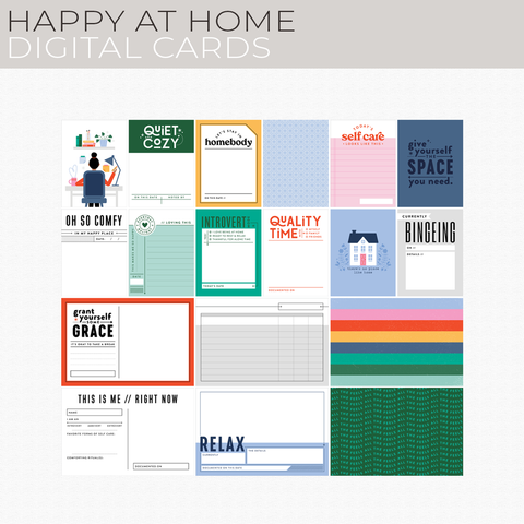 Happy at Home Digital Cards