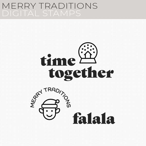 Merry Traditions Digital Stamps