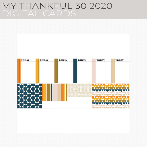 My Thankful 30 2020 Digital Cards