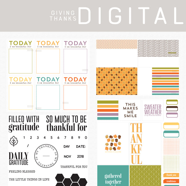 Giving Thanks Digital Kit