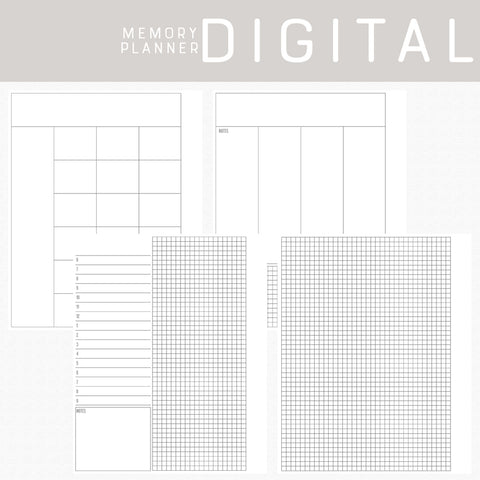 Memory Planner Digital Papers