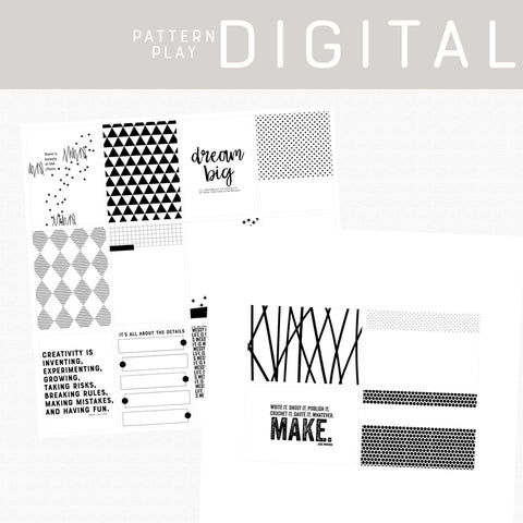 Pattern Play Digital Cards