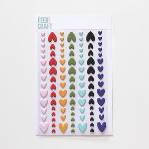 Sweet Hearts Puffy Stickers