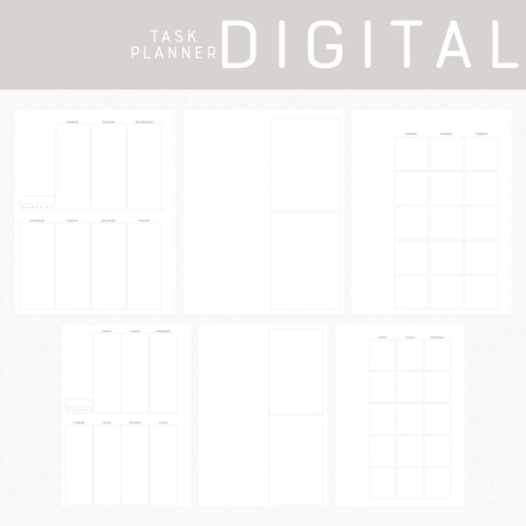 Task Planner Digital Papers