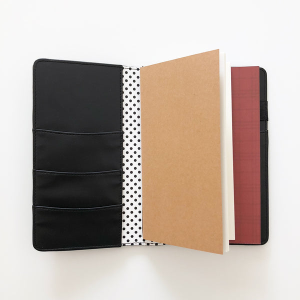 Black Travelers Notebook Cover