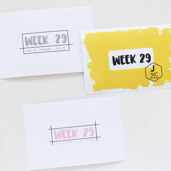 Weeks to Months Stamp