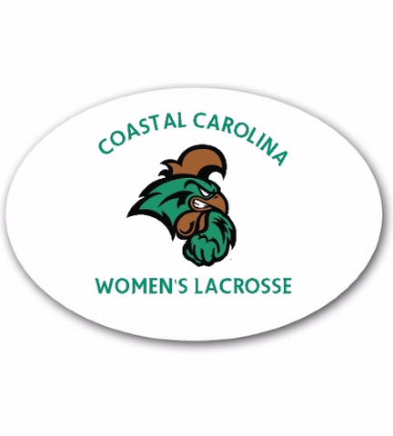 Coastal Carolina Car Sign Oval