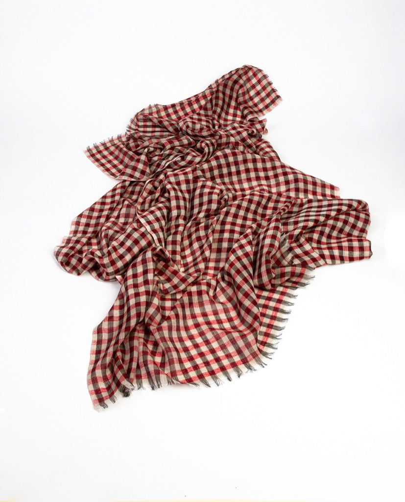 Checked scarf - Khadi & Co