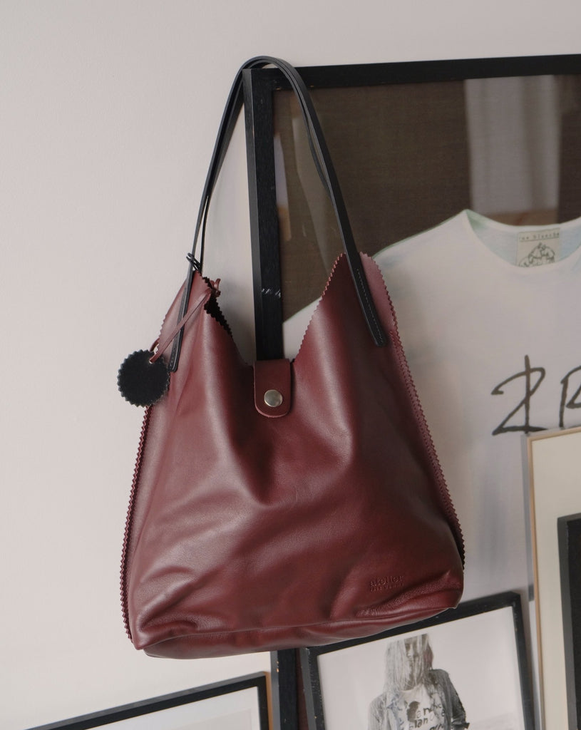 Leather tote bag - Jack Gomme