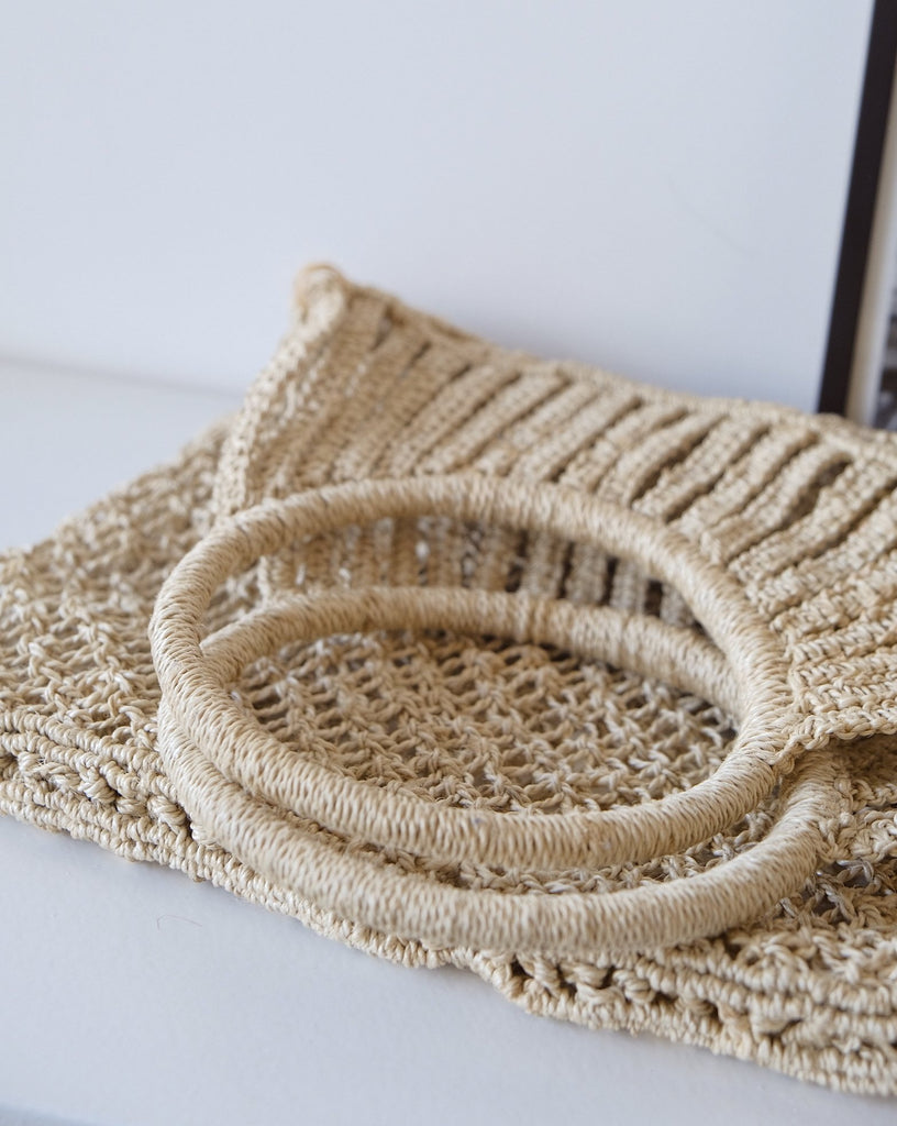 Triangle jute bag natural - Maison bengal