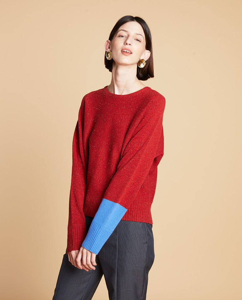 Tweed Pull Red
