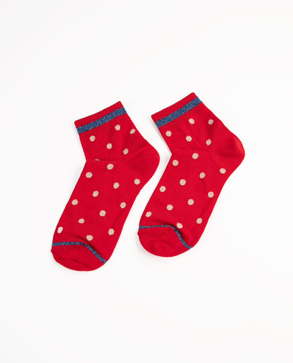 Pea socks red - rue blanche