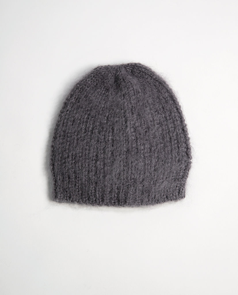 Kid mohair hat grey - Babymoh!