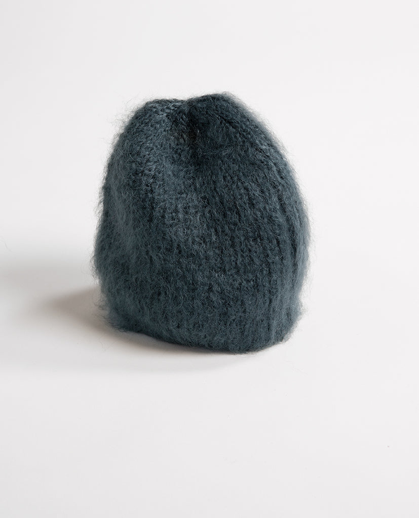 Kid mohair hat green - Babymoh!