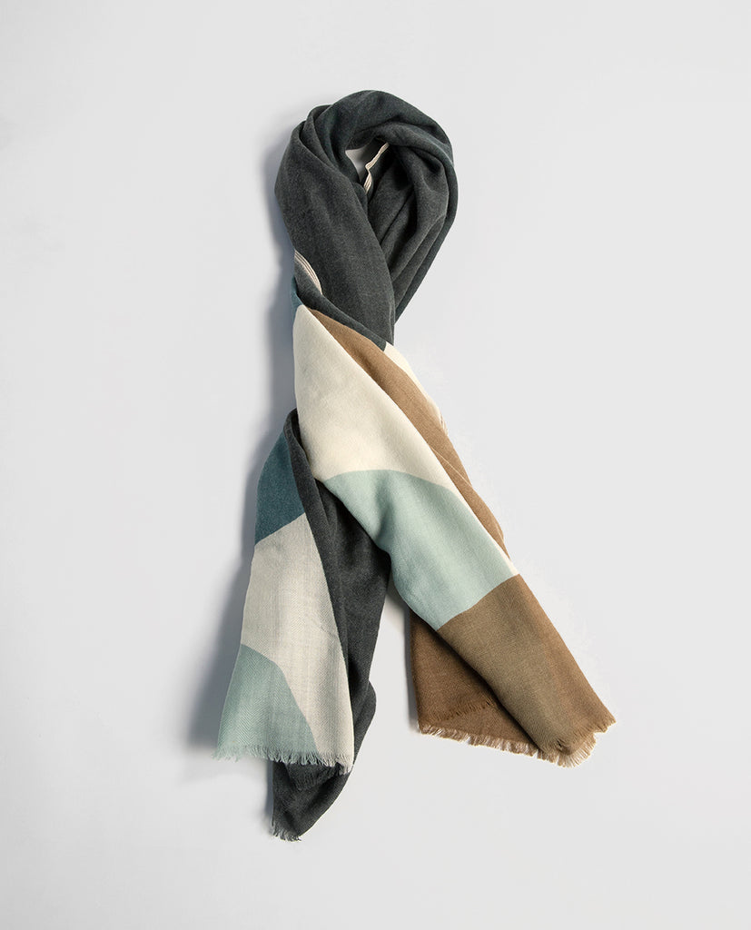 Printed scarf japan blue - Moismont