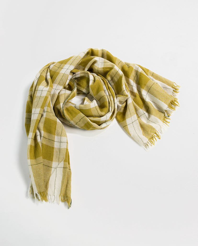Check scarf olive - Moismont