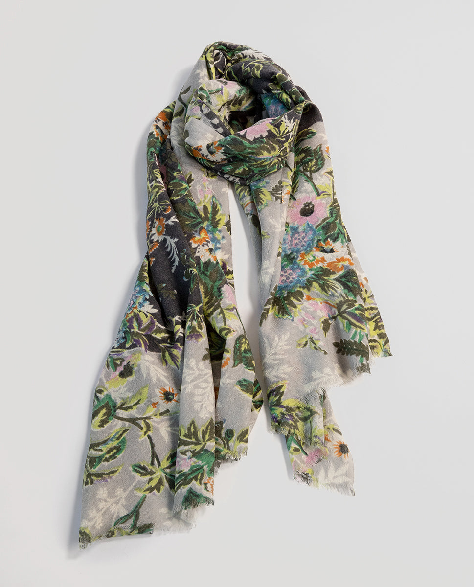 Flowered scarf gris - Epice
