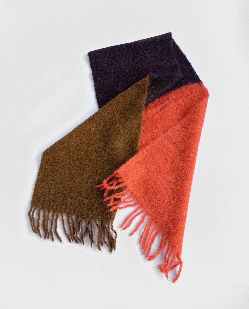 Mohair scarf burgundy - Exquisite J